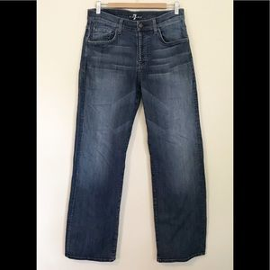 7famk relaxed stretch button fly jeans mens 32